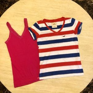 Bundle of Two New Hollister T-shirts&Tank Top XS/S